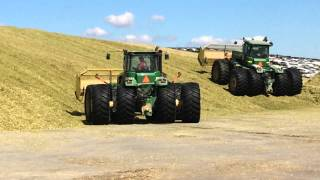 John Deere 9630, 9620, and 9320 packing silage