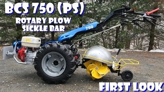 Repeat youtube video BCS 750 Tractor: Swivel Rotary Plow + Sickle Bar Attachment - First Look