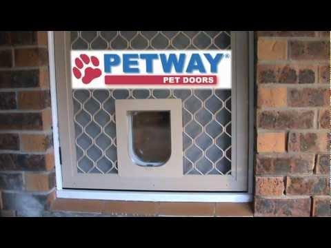 Petway Pet Doors   DIY Fitting Instructions   Aligning Security Screen Pet  Door With Timber Pet Door