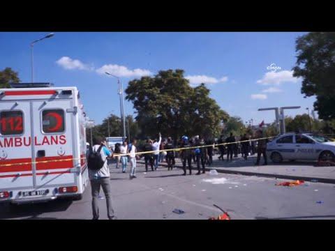 Ankara'da patlama: Olaylar sırasında polis havaya ateş etti