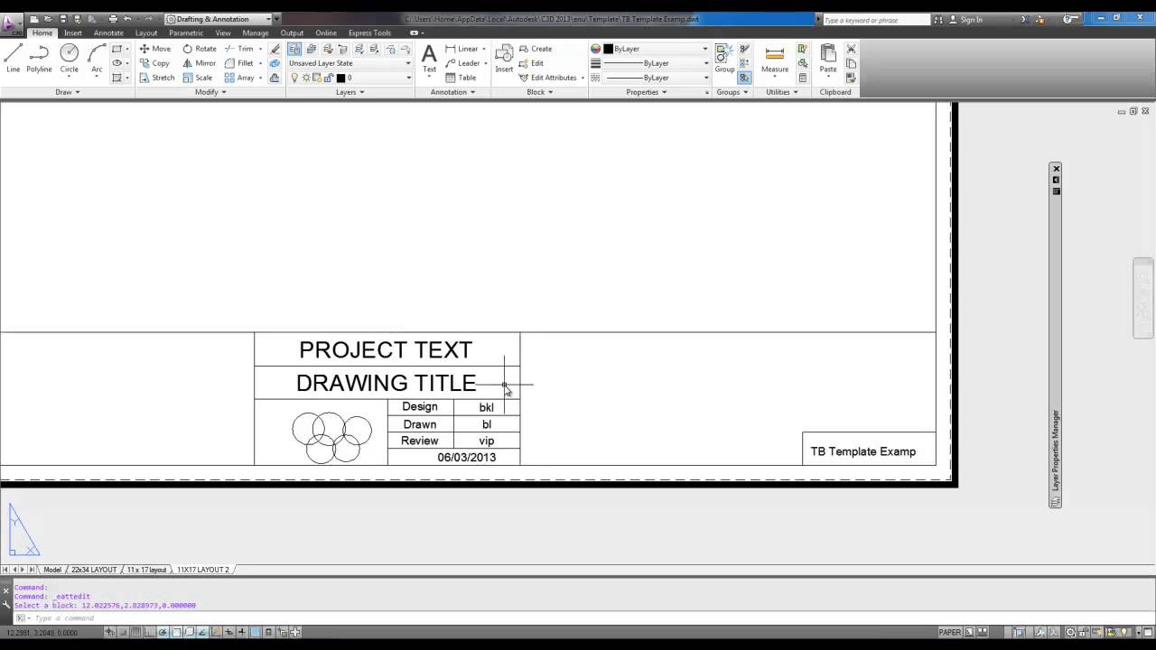 Autocad tutorial create a title block from scratch intro youtube autocad tutorial create a title block from scratch intro pronofoot35fo Image collections