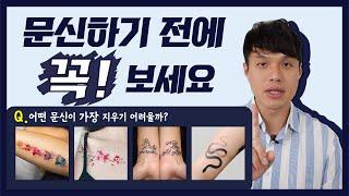 [Dr.Bae의 자문자답 – 문신제거] 문신하기 전에 …