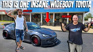 WIDE BODY TOYOTA 86 WITH 3 PIECE ROTIFORM WHEELS RIDICULOUS thumbnail