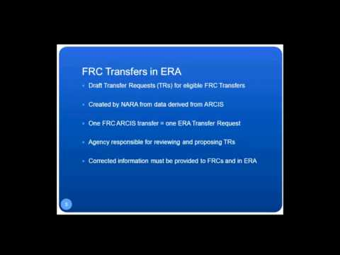 Using ERA for the FRC Annual Move for FY 2016