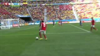 WM 2014 Brasilien Schweiz vs Ecuador Goal 2:1