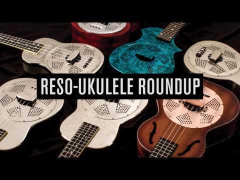 Luna Ukenator Gloss Chrome Sandblasted Tiki Concert Resonator Ukulele