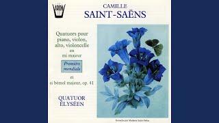 Quatuor en si bémol majeur pour piano, violon, alto, violoncelle, Op. 41: Allegretto