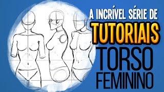 Torso Feminino Tutorial de Desenho Proporção por Cabeças