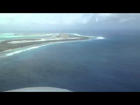 Cocos Islands Golf Course from the air