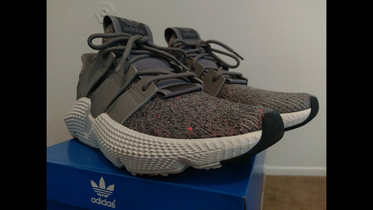 separation shoes 0b72b 08508 Adidas Prophere Grey White Solar Red CQ3023 Unboxing   On Feet