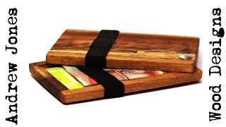 How I made this impractical  reclaimed wood wallet