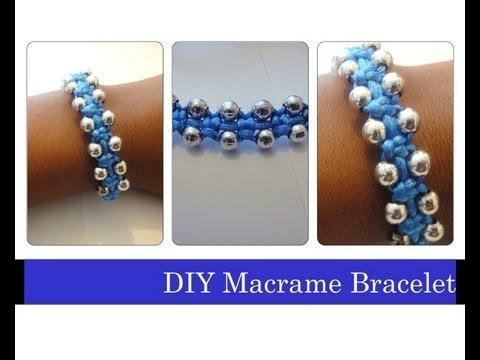 Diy Macrame Bracelet Beaded Stackable Bracelets Arm