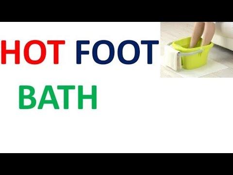 HOT FOOT BATH IN HINDI,गर्म पैर स्नान की विधि, लाभ और नुकसान