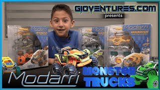 NEW Modarri Monster Trucks! - Jurassic Beasts, Space Invaders, Team Sharkz - Awesome STEM Toys