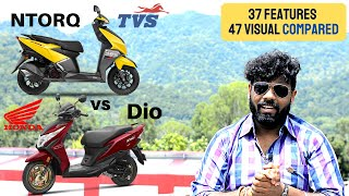 TVS Ntorq BS6 vs Honda Dio BS6   Problems   Specifications   Visual   Features   Colors   Prices