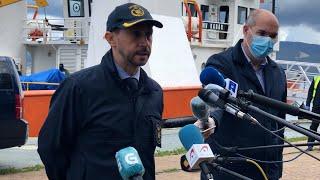 Policía explica la intervención de un buque con 4t de cocaína