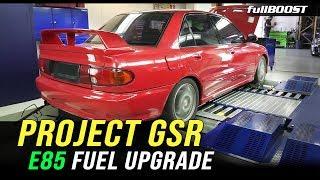 BACKYARD MECHANICS | Project GSR gets ready for E85 | Mitsubishi 4G63 | fullBOOST