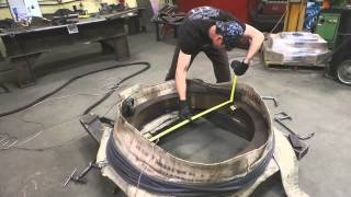 Replacing driver tire on EY&P Steam Locomotive Nr 107
