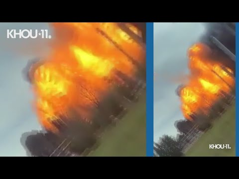 Download Raw video: Second explosion at TPC Group plant in Port Neches caught on camera