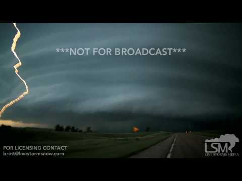 06-12-2017 Alliance, Nebraska - Otherworldly Supercell Structure, Close Lightning, Hail