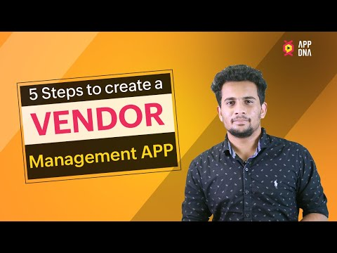 Vendor Management | Create Custom Apps For Your Business
