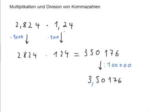 multiplizieren mit kommazahlen grundschule