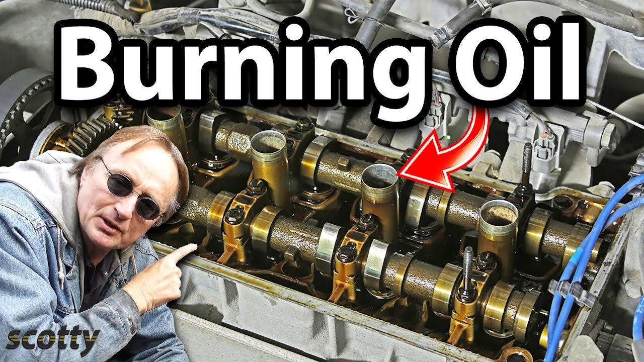 how to fix engine that burns oil for 10 bucks youtube