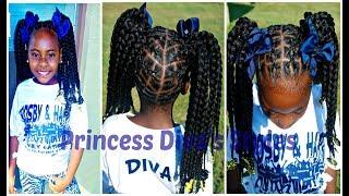 Little Girls Crochet Hairstyle | Using Braided Crochet hair | Natural Hair