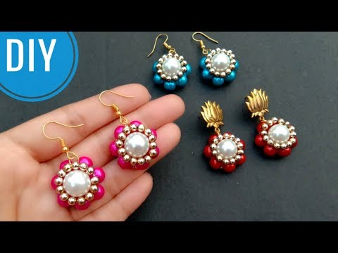 How To Make//Beaded Earrings//At Home// Useful & Easy