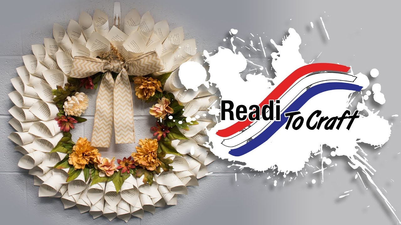 Readi to Craft: Book Page Wreath