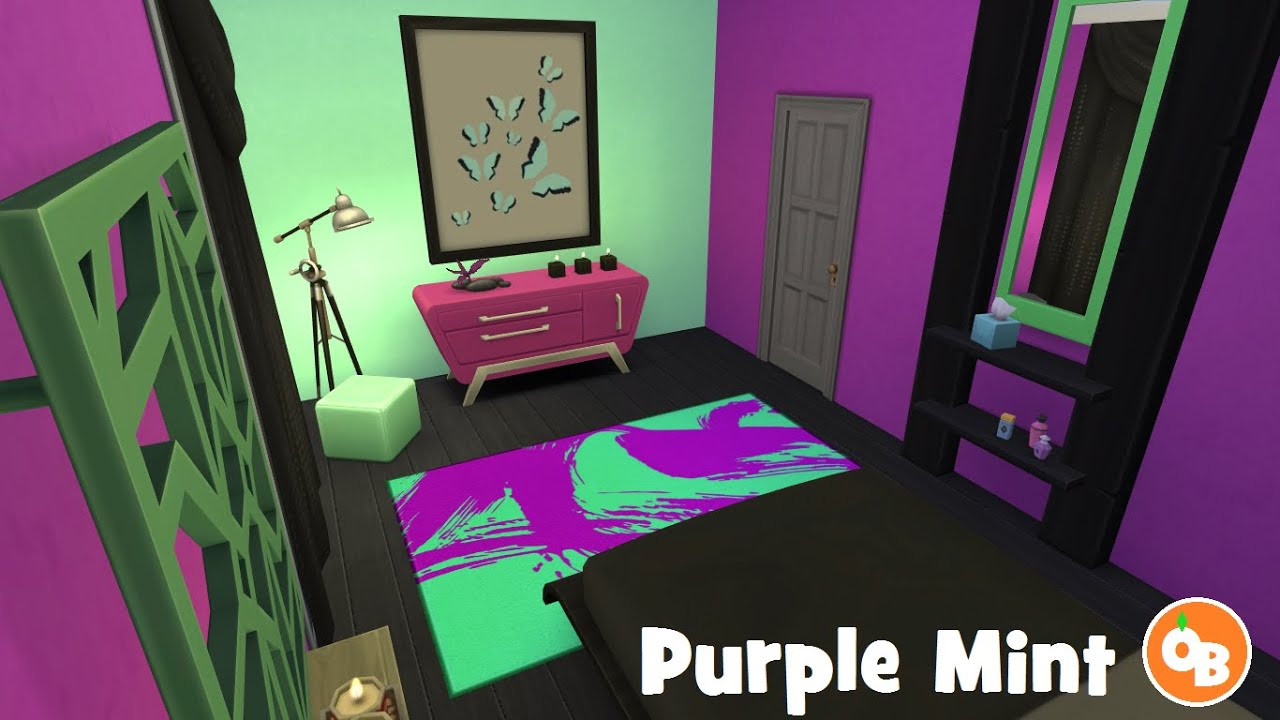 sims 4 room build u0027purple mint u0027 bedroom youtube