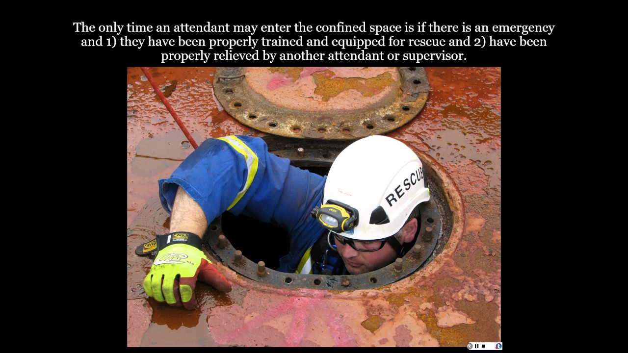 Permit Required Confined Spaces Attendant Duties