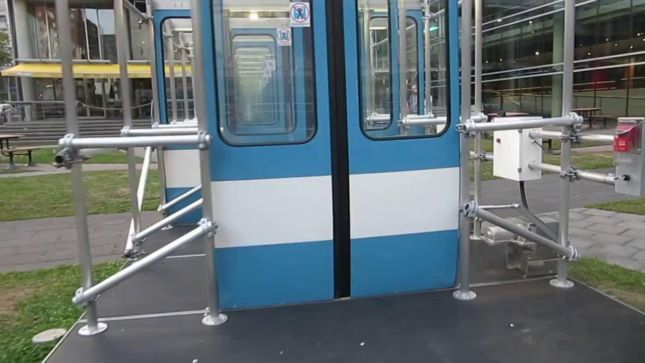Montreal Metro MR-63 Doors Recycled for the good of Art! - Artist Michel de Broin \ Seuils\  & Montreal Metro MR-63 Doors Recycled for the good of Art! - Artist ...