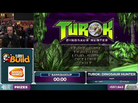 Turok: Dinosaur Hunter by bawkbasoup in 37:09 - Awesome Games Done Quick 2017 - Part 115