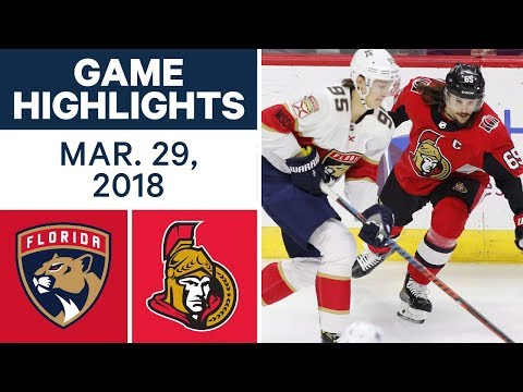 NHL Game Highlights | Panthers vs. Senators - Mar. 29, 2018