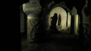 Crypte romane de l'église de Lanmeur, Bretagne