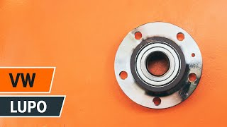Kuinka vaihtaa takapyörän laakerit VW LUPO -merkkiseen autoon OHJEVIDEO | AUTODOC
