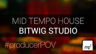 Bitwig Studio #producer POV   mid tempo jazz house jam