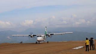 गुल्मीको रेसुङा विमानस्थनमा पहिलो पटक एसरी आयो जहाज Tara Air 1st Flight at Resunga Airport Gulmi