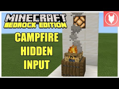Minecraft Bedrock - Campfire Hidden Input Tutorial [T Flip Flop] ( Xbox/MCPE/Windows 10/Switch )