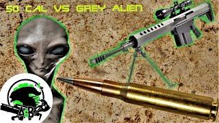 50 Cal Vs Area 51 Grey Alien! AlienGoBoom ft. Edwin Sarkissian