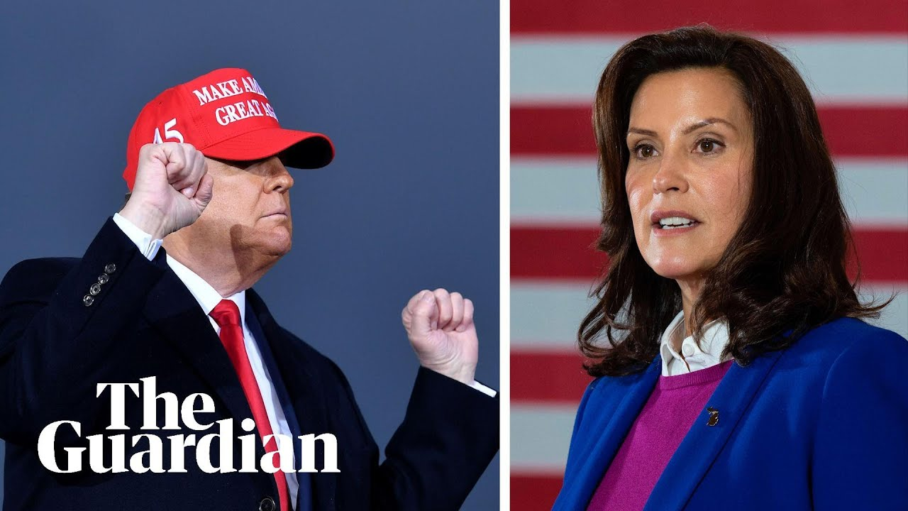 Trump 'inciting domestic terrorism' with 'lock her up!' rally chant says Michigan governor – Guardian News