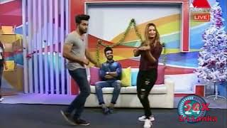 ට නග පට ටම ලය ව ඩ න ස එක Teena Live dance on Sirasa TV