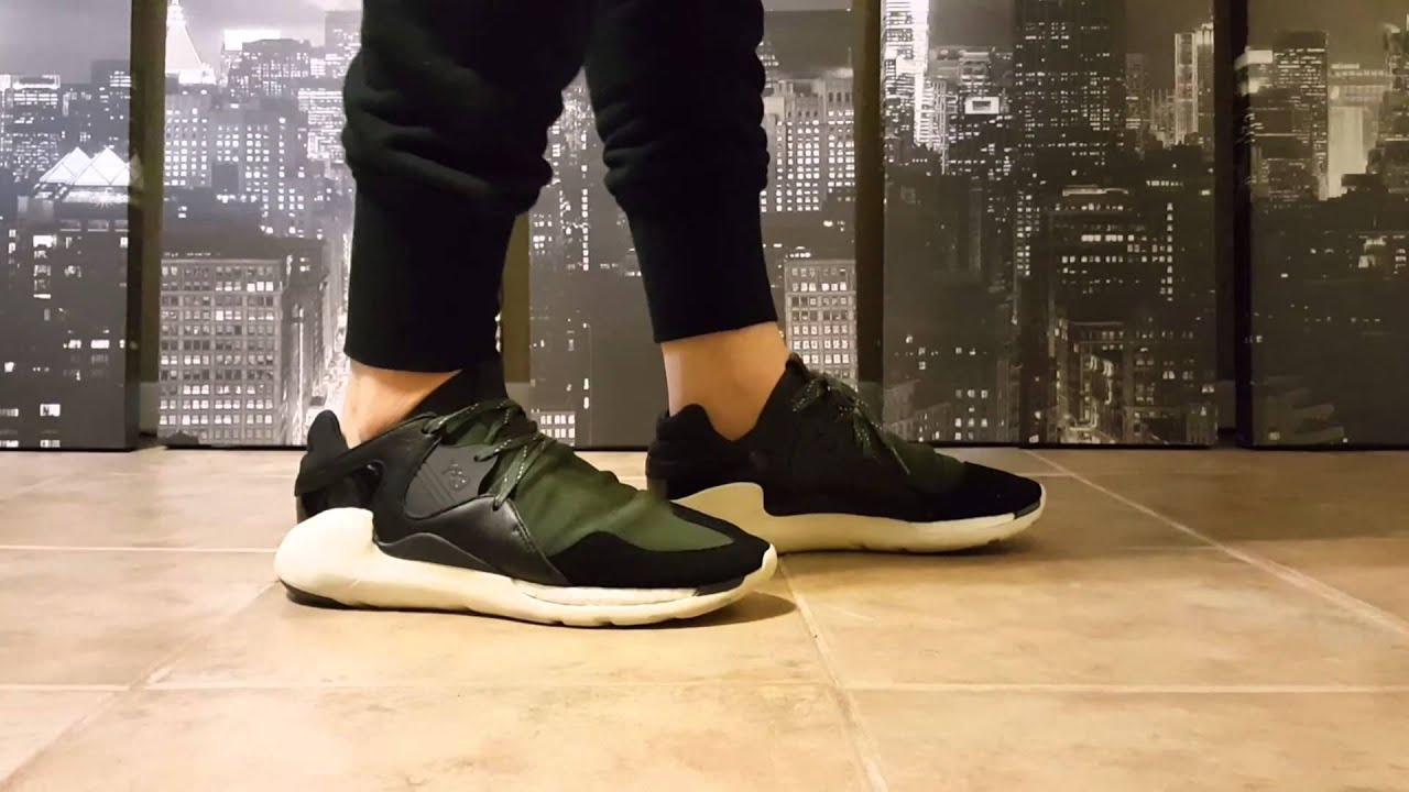 adidas y3 boost on feet