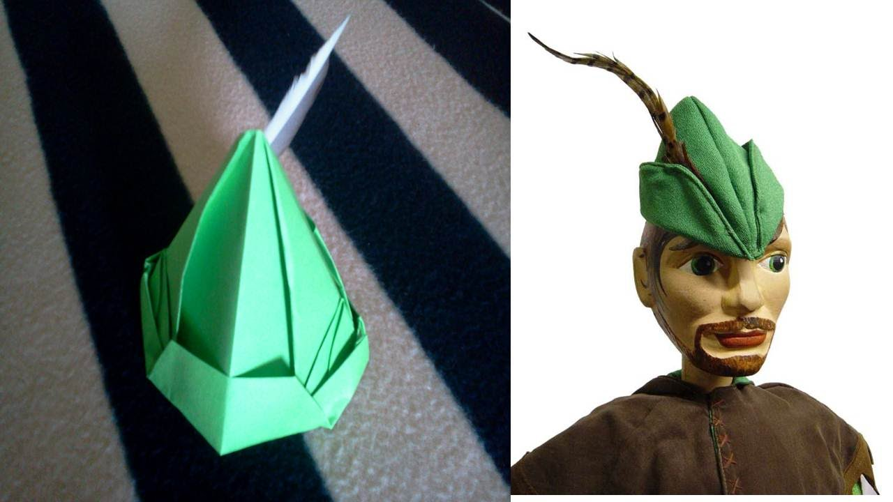 Origami Peter Pan Hat Tutorial Gorro De Papel Youtube Jpg 1280x720 Felt Robin