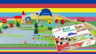 Wooden Rail Overpass 40pcs Wooden City Toy Reivew