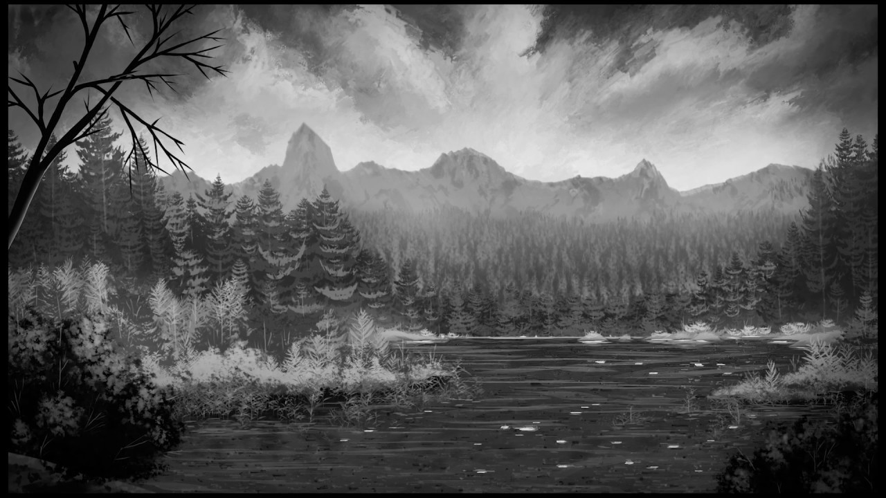Black And White Art Landscape
