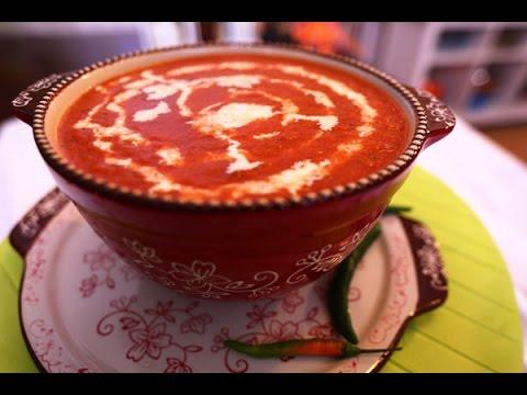 شوربة طماطم مشوي مع الخضراوات -  مطبخ منال العالم