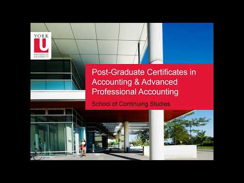 Post-Graduate Certificates in Accounting and Advanced Professional Accounting - Info Session