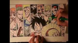 Straw Hat Pirates - One Piece (Speed Drawing)